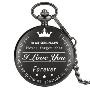 to my son-in-law pocket watch