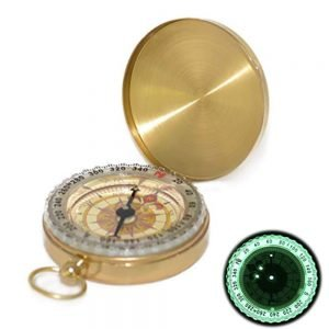 luminous pocket compass